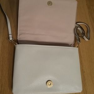 H&M Bags - H&M Small Shoulder Bag Embossed Snake Light Beige